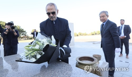 Ex-East Timor president visits Jeju Island