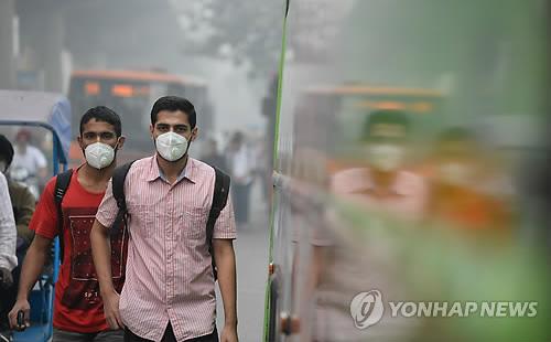 '가스실 같은 대기오염' 뉴델리, 다음주 차량 홀짝제 시행