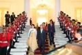 文在寅和夫人出席印尼总统晚宴