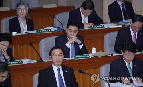 예결위 참석한 전병헌 정무수석