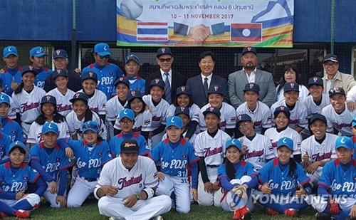 kt 19일 홈 경기에 라오스 야구국가대표팀 시구