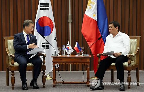 두테르테 필리핀 대통령, 다음달 공식방한…문대통령과 정상회담