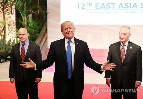 아시아 순방 소감 밝히는 트럼프