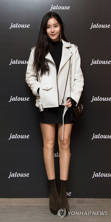 Hyomin with Jalouse clothes
