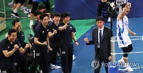 승리 예감 [연합뉴스 자료 사진]