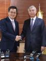 韩财长会见中国驻韩大使
