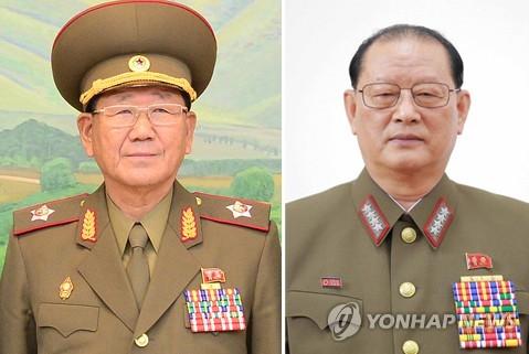 황병서(왼쪽)와 김원홍(오른쪽)  [연합뉴스 자료사진]