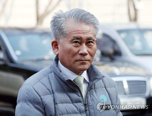 법원에 나온 장석현 인천 남동구청장 [연합뉴스 자료 사진]