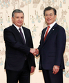 S. Korea, Uzbekistan hold summit talks