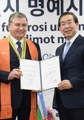 Uzbek president receives honorary Seoul citizenship