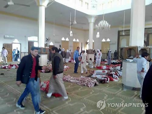처참한 이집트 이슬람사원 테러 현장