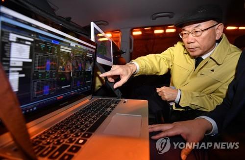 터널 내 재난방송시설 점검