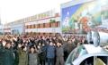 朝居民欢呼庆祝导弹试射成功