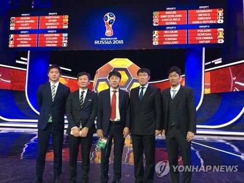 러시아 월드컵 조 추첨식에 참석한 신태용 축구대표팀 감독