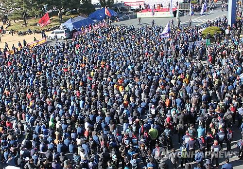 현대차 노조 파업 집회