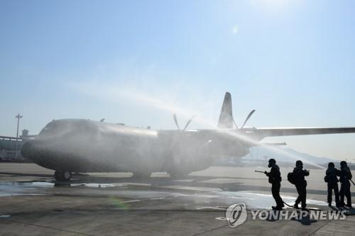 Air force decontamination work