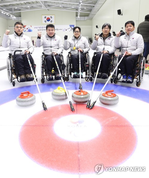Equipe de curling aux paralympiques de PyeongChang