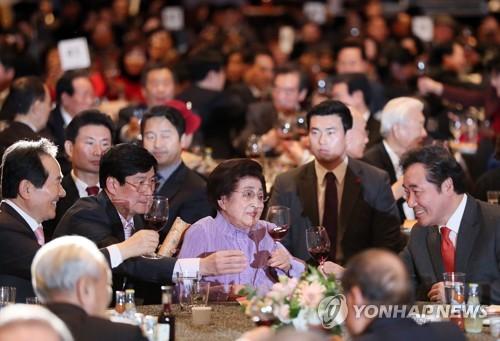 김대중 노벨평화상 수상 기념 축하 건배