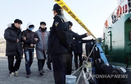 '낚싯배 추돌' 급유선 선장 현장검증