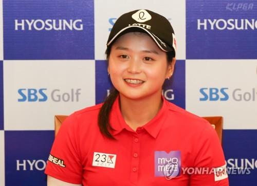 최혜진, 프로 전향 후 첫 우승 인터뷰