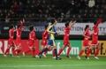 朝东亚杯女足欢呼庆祝胜利