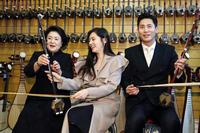 김정숙 여사, 우블리 부부와 '얼후' 체험