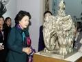 金正淑女士访问韩美林艺术馆