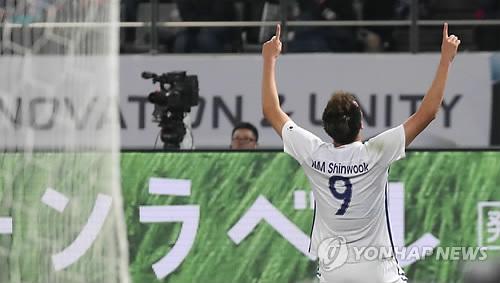 김신욱·정우영 '골·골·골' 한국, 일본 상대 3-1로 전반 리드