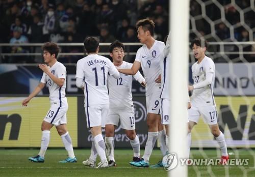 '염기훈까지 골맛' 한국, 일본에 4-1로 크게 리드(후24분)