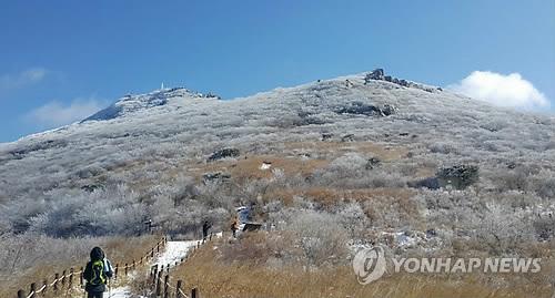 2017년 12월 눈 내린 무등산