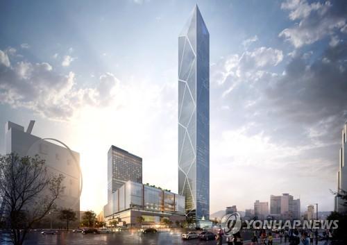 현대차 105층 신사옥 투시도  [서울시 제공=연합뉴스]