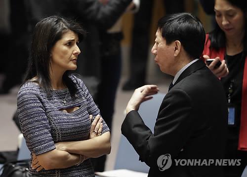 '새 대북제재 결의안' 논의하는 미·중