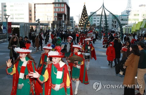Christmas parade in Seoul