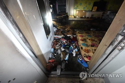 아파트 화재로 어린이 3명 숨져