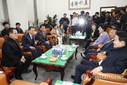 국민의당 통합반대 의원들 한자리에