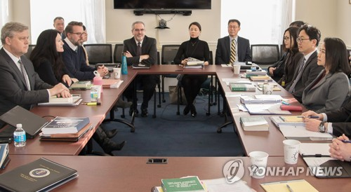 ワシントンで開かれた初回の会合(資料写真、産業通商資源部提供)=(聯合ニュース)