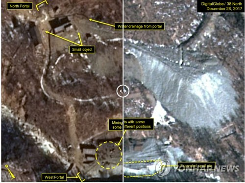 Tunneling seen at N.K. nuke test site