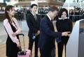 文在寅同金妍儿宋仲基参观仁川机场第二航站楼