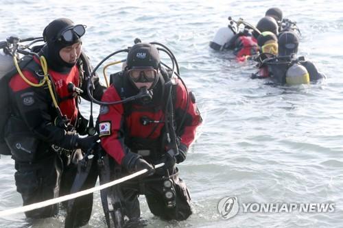 해양경찰 지휘부 스쿠버 실습