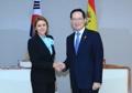 Ministres de la Défense coréen et espagnole