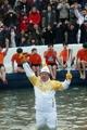 华川鳟鱼节迎圣火传递