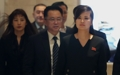 朝鲜艺术团先遣队前往餐厅