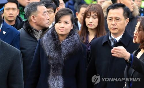 ソウルに到着した北朝鮮視察団=22日、ソウル(聯合ニュース)