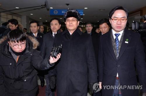 25日午前、韓国入りする北朝鮮の先発隊(資料写真)=(写真共同取材団=聯合ニュース)