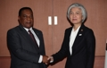 韩外长康京和会见坦桑尼亚外长马希加