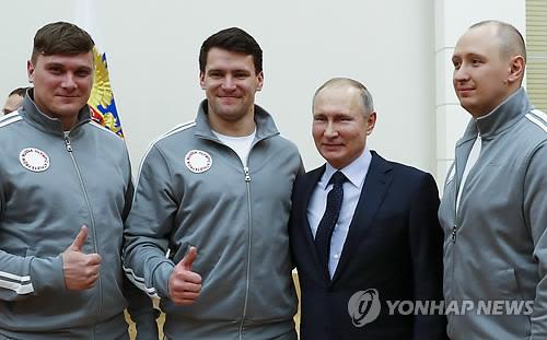 """푸틴, 도핑 스캔들 관련 자국 선수들에 """"용서해달라"""""""