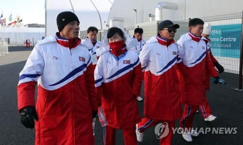 平昌五輪に参加する北朝鮮のアルペンスキー選手ら(資料写真)=(聯合ニュース)