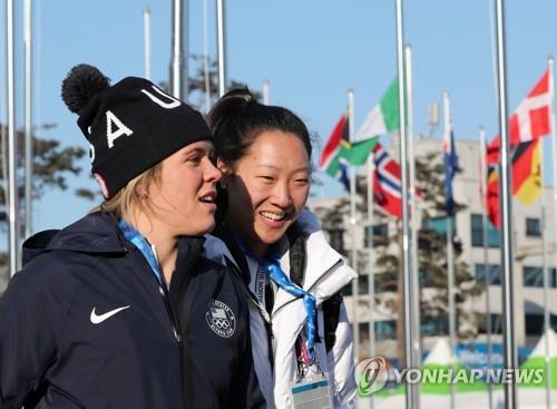 [올림픽] 함께 웃는 박윤정-한나 브란트 자매