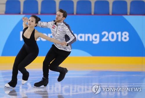 Duo de danse sur glace