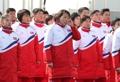 朝鲜选手观升旗流泪